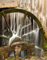 Canvas Prints Mills Water Wheel