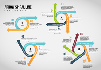 Arrow Spiral Infographic