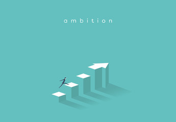 Business Ambition Arrow Illustration