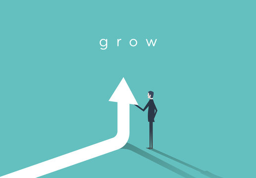 Businessman Career Growth Illustration