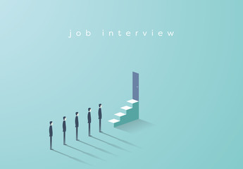 Job Interview Queue Illustration
