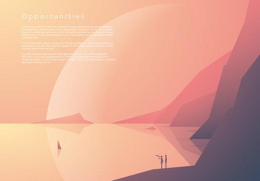 Space Landscape Illustration