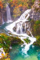 Deurstickers Watervallen Waterfalls, Plitvice National Park, Croatia