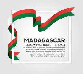 Madagascar flag background