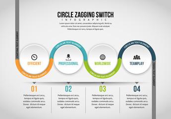 Half Circle Chain Infographic 5