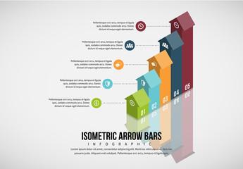 3D Arrow Bar Graph Infographic