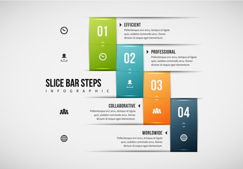 Stair Step Bar Infographic