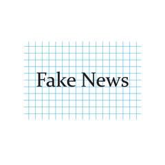 Fake News written on checkered paper sheet- vector illustration