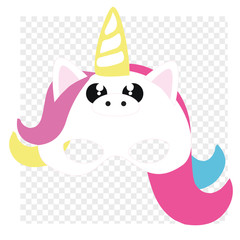 Make yourself cute unicorn. Add mask on top of your photo.