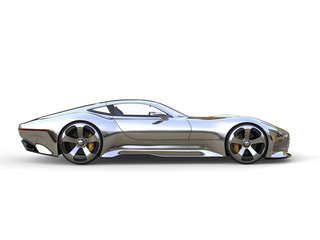 Awesome metallic modern super sports car - side view