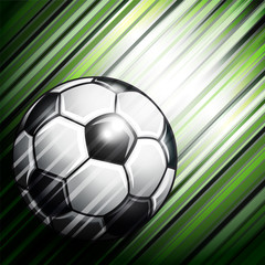 Soccer ball on colorful background.
