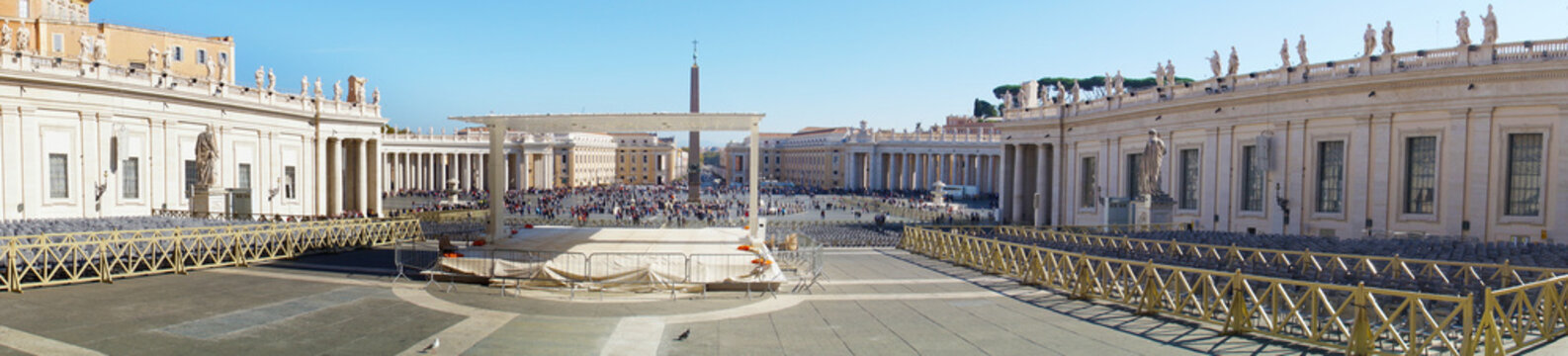 View of San Peter's Square from St. Peter's Basillica