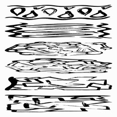 Set of grunge brush strokes. Quality vector illustration for your design