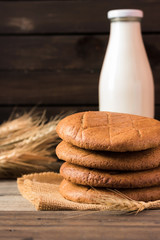 Rye cakes in the rustic style