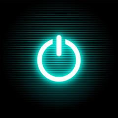 On blue light button