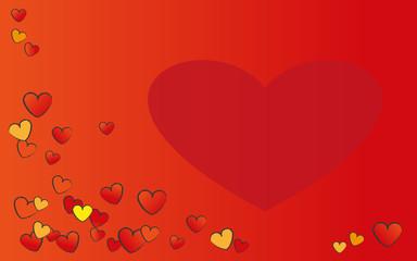 Hintergrund Mit Herzen Für Valentinstag, Geburtstag Oder Hochzeit