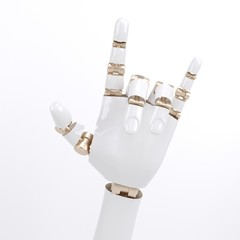 Robot hand giving the Rock and Roll