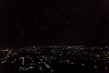 city scape view with shining star from the top of mountain in Phuket Fototapete