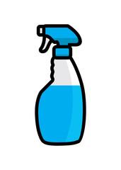 Glass cleaner illustration vector