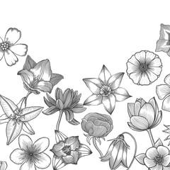 Floral card design.