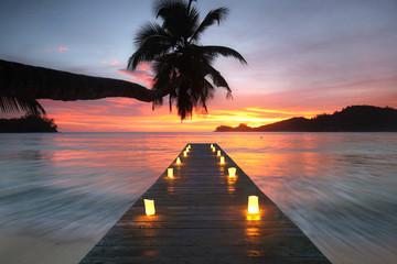 Fotomurales - traumhafte Seychelleninseln