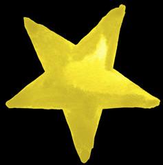 golden watercolour star