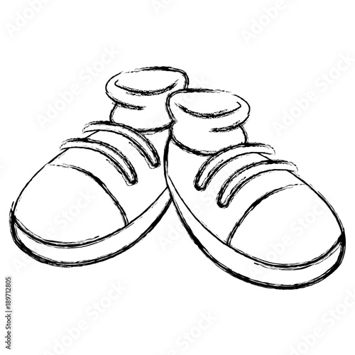 pair of shoes cartoon icon vector illustration graphic design stock