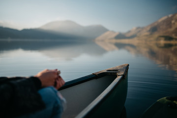 Lake view in a canoe