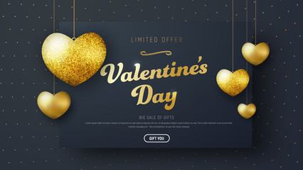 Template header for sale on Valentine's Day