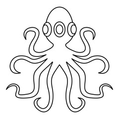 Octopus, icon outline