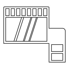 Memory card icon outline