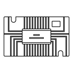 Microchip icon outline