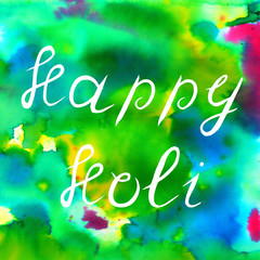 Happy Holi colorful background. Bright colors. Indian holiday