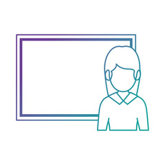 teacher woman with chalkboard avatar