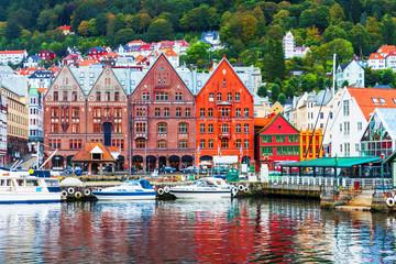 Foto auf Leinwand Skandinavien Scenery of Bergen, Norway
