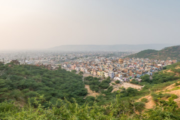 view over the pink city of Jaipur, Rajasthan