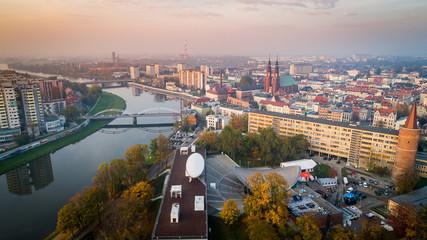 Obraz Krajobraz miasto opole z drona - fototapety do salonu