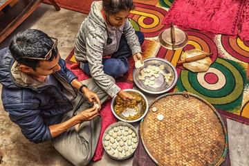 Preparing Momos at Home, Nepal