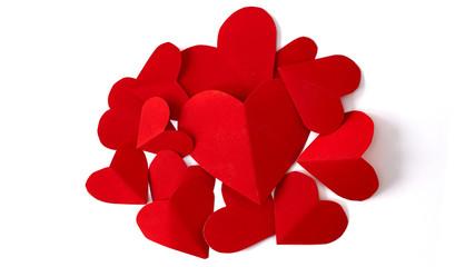 14th Valentine`s day hearts