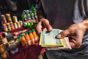 Nepali Rupees at Hand