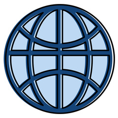 sphere planet isolated icon