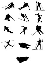 Silhouette of disciplines of Olympic games