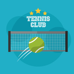 tennis club grid and speed ball sport emblem vector illustration