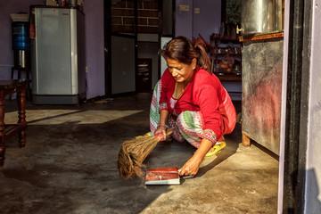 Sweeping the Floor, Nepal