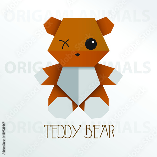 Origami vector Teddy Bear