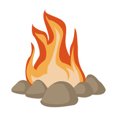 Bonfire cartoon isolated icon vector illustration graphic design