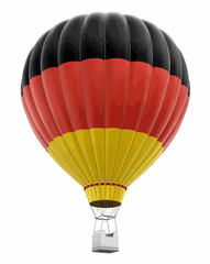 Hot Air Balloon with Germany Flag. Image with clipping path