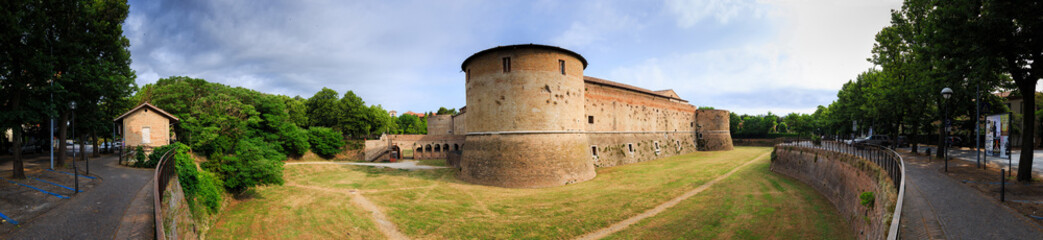Panorama of Rocca Costanza castle in Pesaro, Marche, Italy. Built between 1474 and 1483 years
