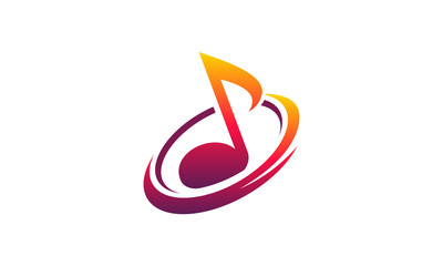 Simple Designs Music Audio iconic logo template vector