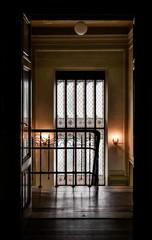 villa interno vetrata antica